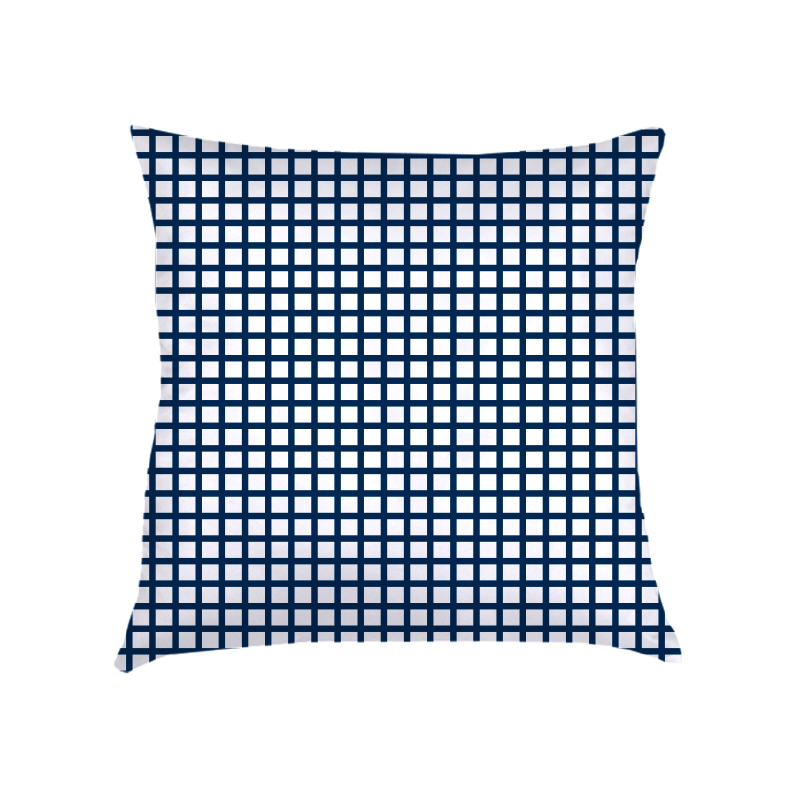 ALMOFADA mini grid (CAPA + RECHEIO) | azul marinho e branca | 50X50CM | R$ 169,00   CAPAS PODEM SER VENDIDAS SEPARADAMENTE - VALOR R$149,00