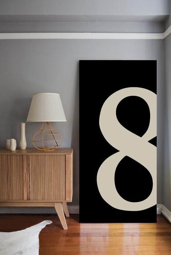 8 em preto e branco - 1,80 x 0,90m