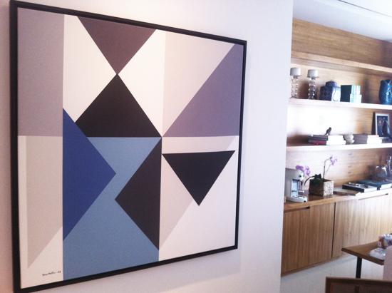 Arrows - paleta azul 1,0 x 1,0m  PROJETO juliana bongiovanni