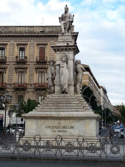 Bellini statue in Catania, Sicily