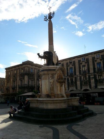 Catania's famous Fontana dell'Elefante