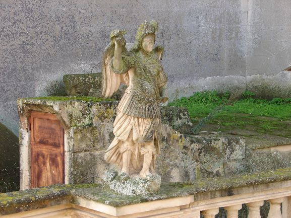 You can find beautiful art anywhere. This statue was on a roof across from our B&B in Lecce. It wasn't famous (as far as I know) or even visible from the street, but I enjoyed seeing it every day.
