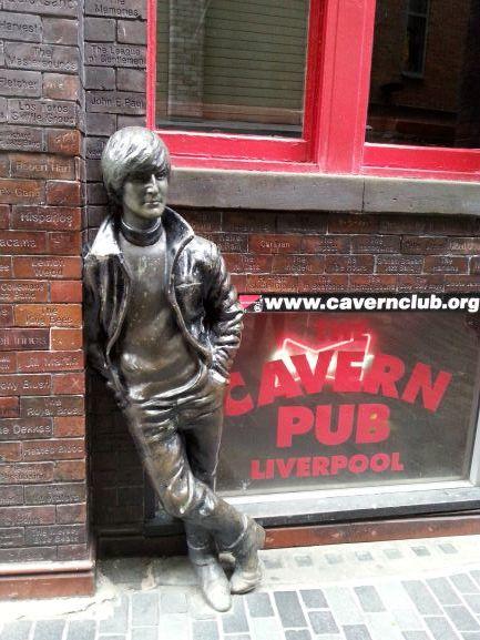 John Lennon statue outside the Cavern Pub.