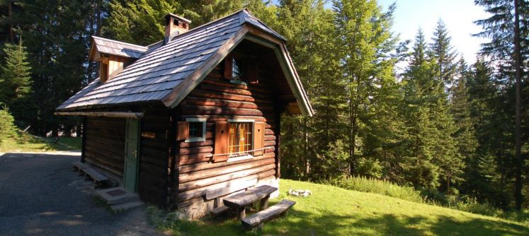 One of the cabins you can stay at in Triglav National Park