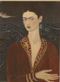 Frida's Self Portrait in a Velvet Dress.