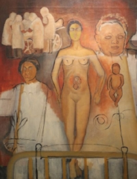 Frida and the Cesarean Operation - Displayed at the Frida Kahlo Museum