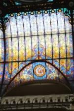 Tiffany ceiling at Gran Hotel Ciudad, Mexico City