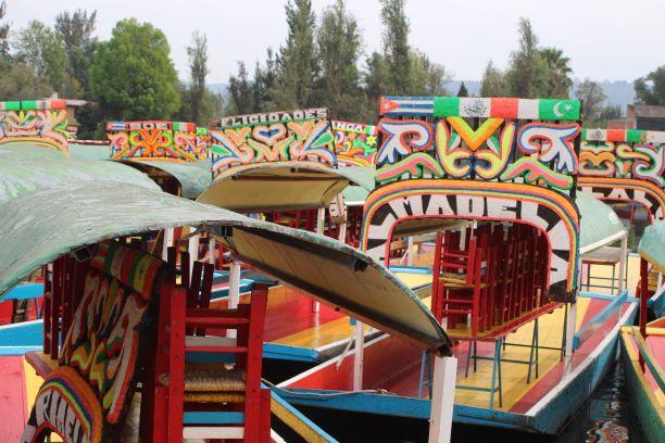 Colorful boats of Xochimilco