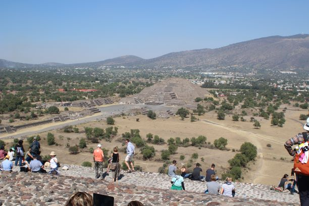 View from the top at  Teotihuacan, Mexico