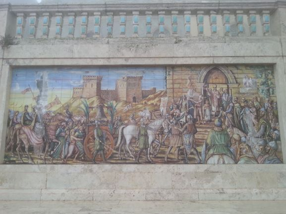Mural near the church at the staircase in Caltagirone, Sicily