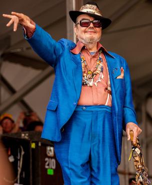 New Orleans icon Dr. John at Jazz Fest