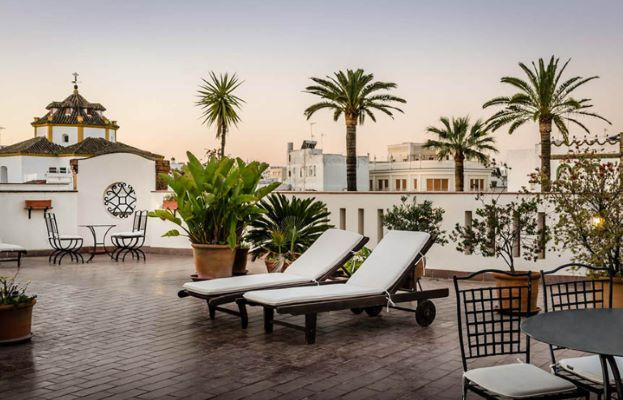 Roof terrace at Hotel Casa Grande