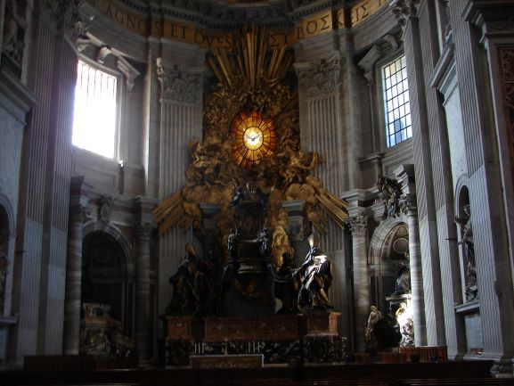 The alter at St. Peter's