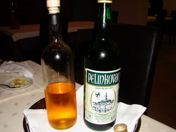 Note the unlabeled bottle that was placed on our table.