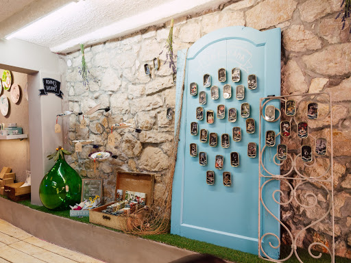 Painted sardine cans at Ribica Atelier, Rovinj