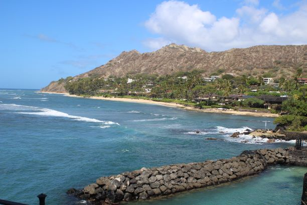 View of Diamond Head from Shangri-La