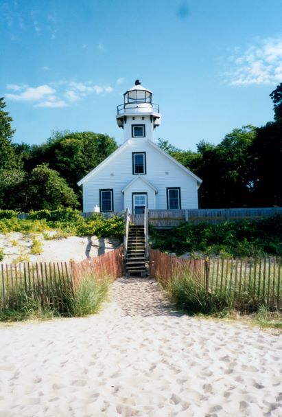 Old Mission Point Lighthouse at the tip of Old Mission Peninsula