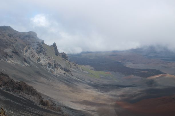 Haleakalā National Park, part of the volcano that created the island of Maui one million years ago.