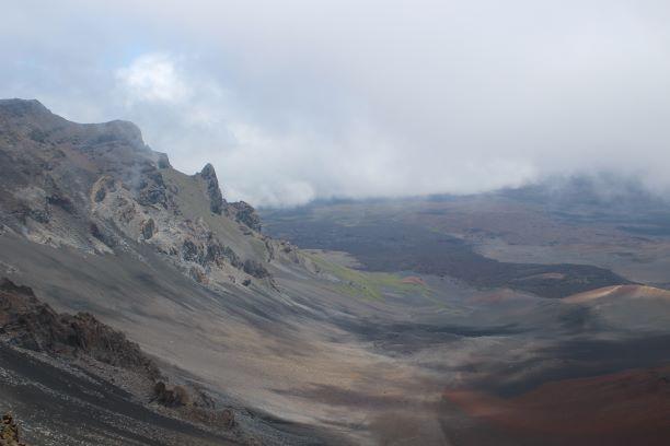 Haleakalā National Park, part of the volcano that created the island of Maui one million years ago.