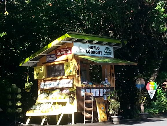 One of the shacks along the Road to Hana where you can stop for snacks.
