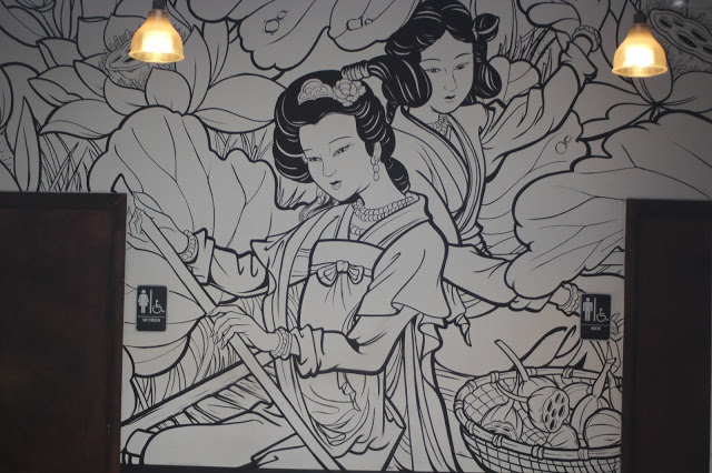 Mural on the back wall at Manifest