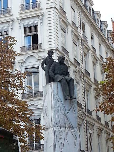 Statue of Antoine de Saint-Exupéry and his friend The Little Prince