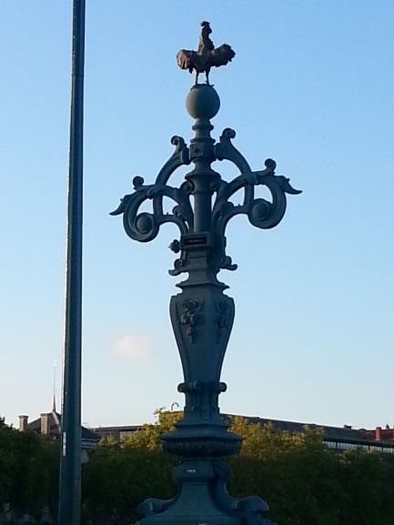 Ironwork on the University Bridge, Lyon