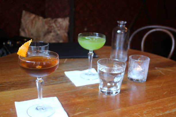 Cocktails at the Gin Room including a Hanky Panky