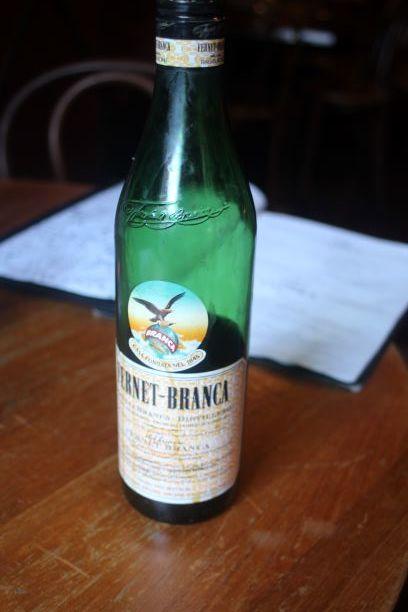Fernet-Branca, the wonderful bitter liquor.