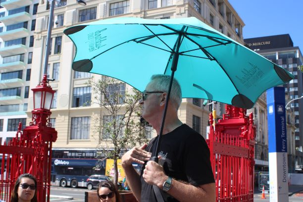 Marty, a great guide on the Auckland Free Walking Tour