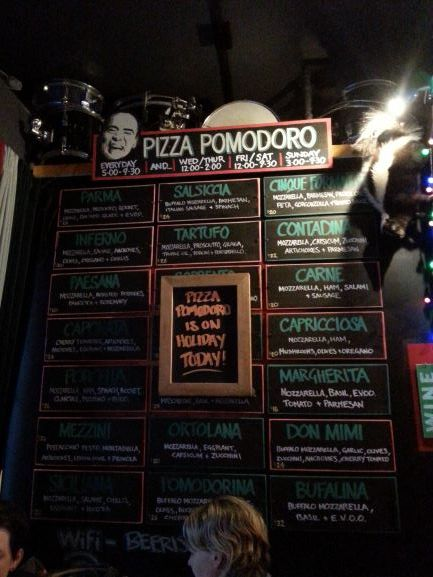 Pizza Pomodoro at Goldings Free Dive in Wellington