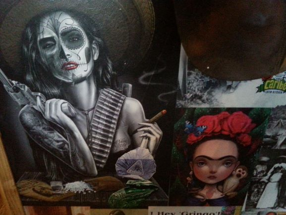 Some of the cool artwork at Caribe, Little High Eatery, Christchurch, New Zealand
