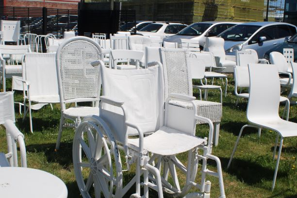 Some of the 185 Empty Chairs, Christchurch, New Zealand