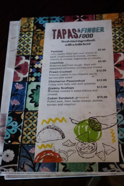 Menu for Caribe at Little High Eatery, Christchurch, New Zealand