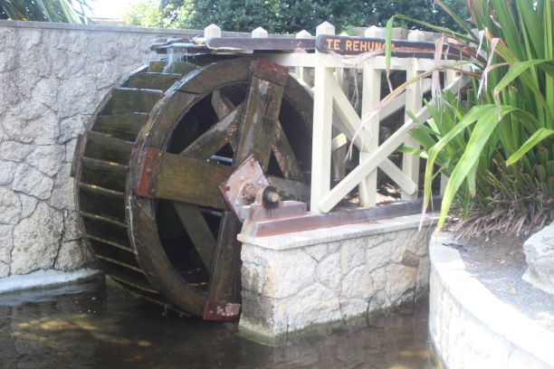 Water wheel at the Sunken Gardens, Napier, New Zealand