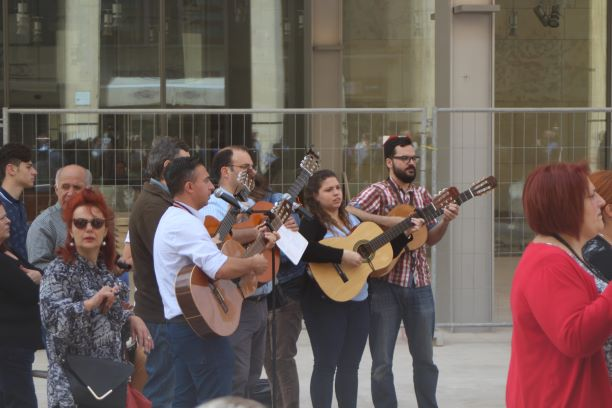 Street singers in Valletta, Malta