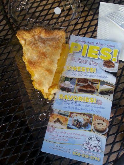 Lilikoi Mango Pie at the Right Slice, Lihue, Kauai