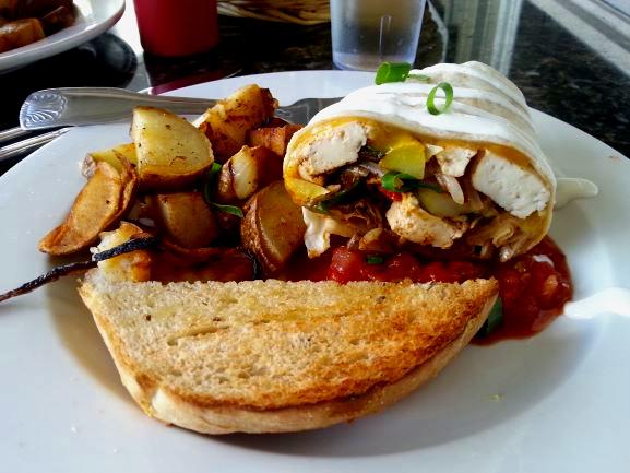 Breakfast at Kalaheo Cafe, Kauai, Hawaii