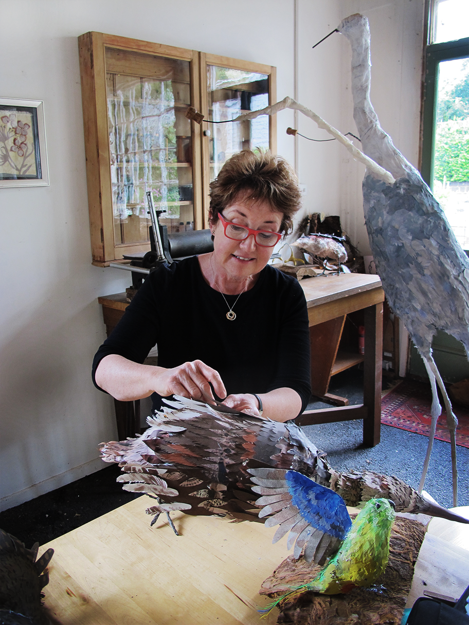 Mary-Jane at work in her studio