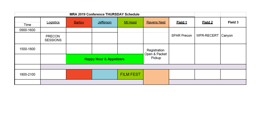 Note: the schedule may be adjusted prior to conference