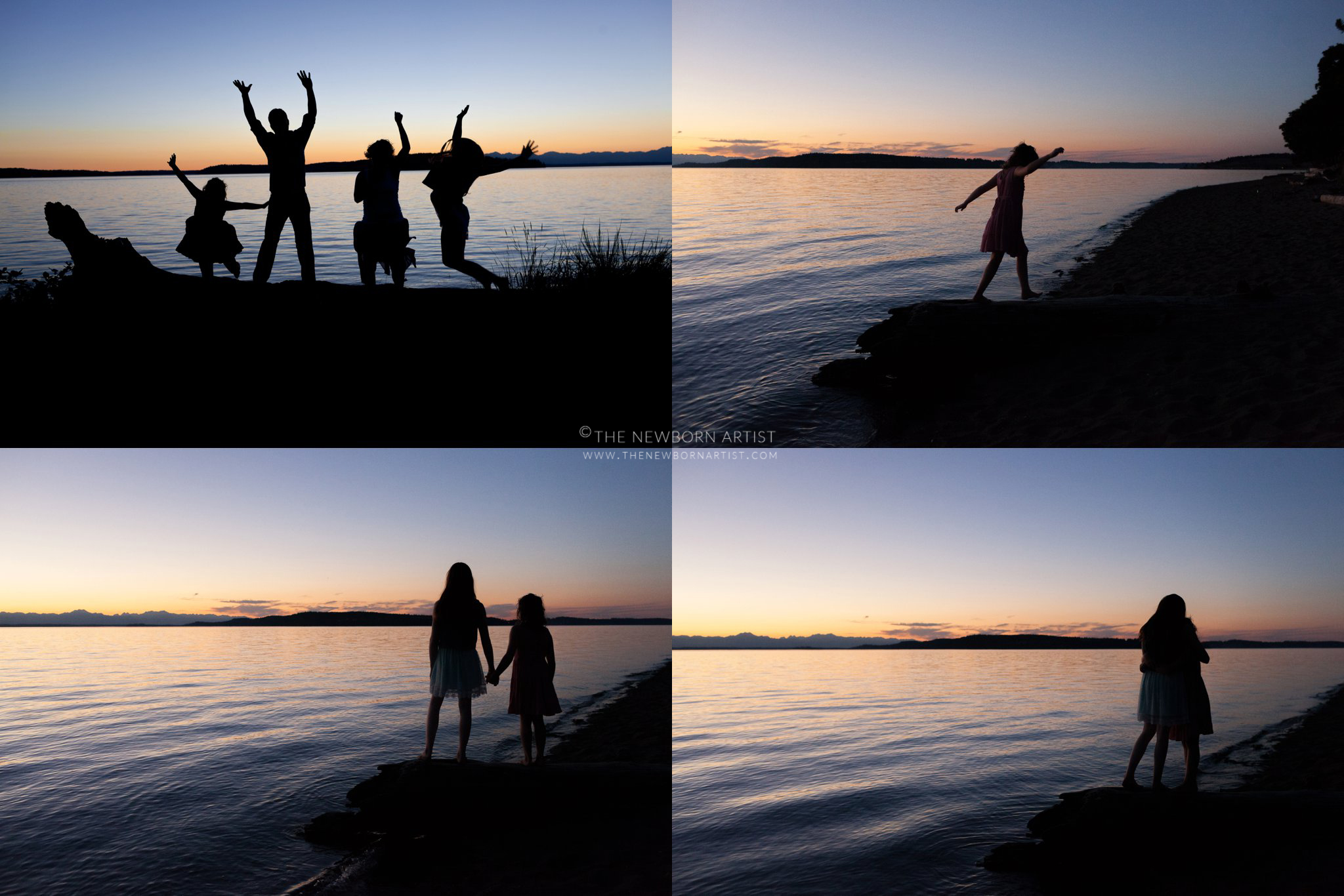 family photography sunset in chambers bay