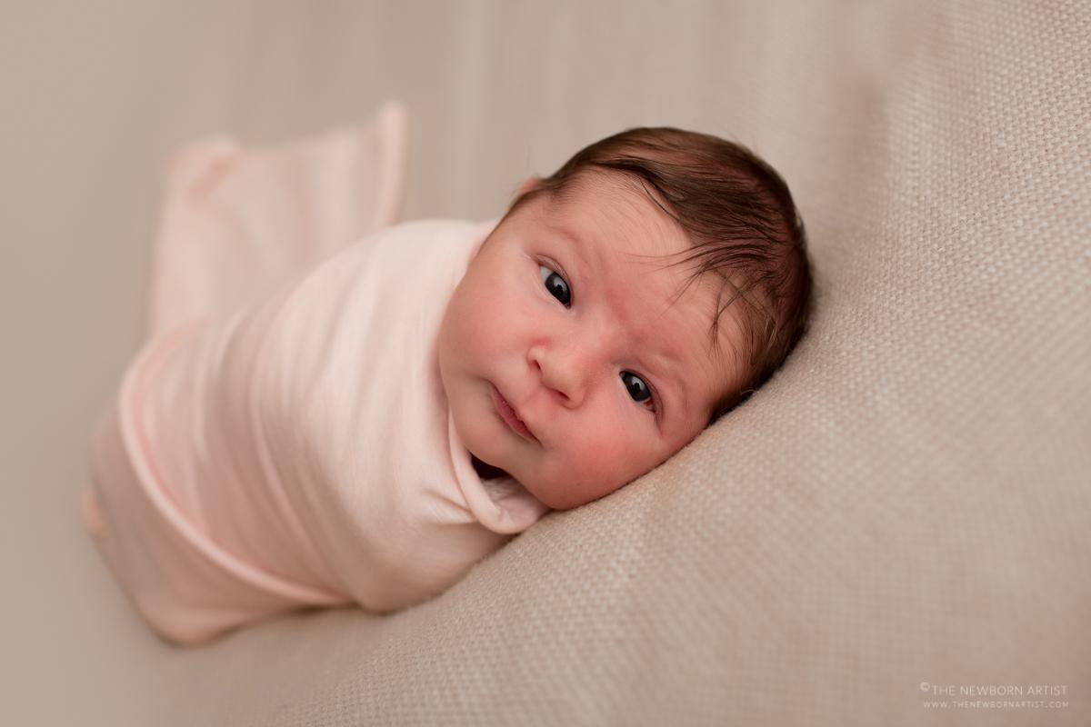 awake newborn baby