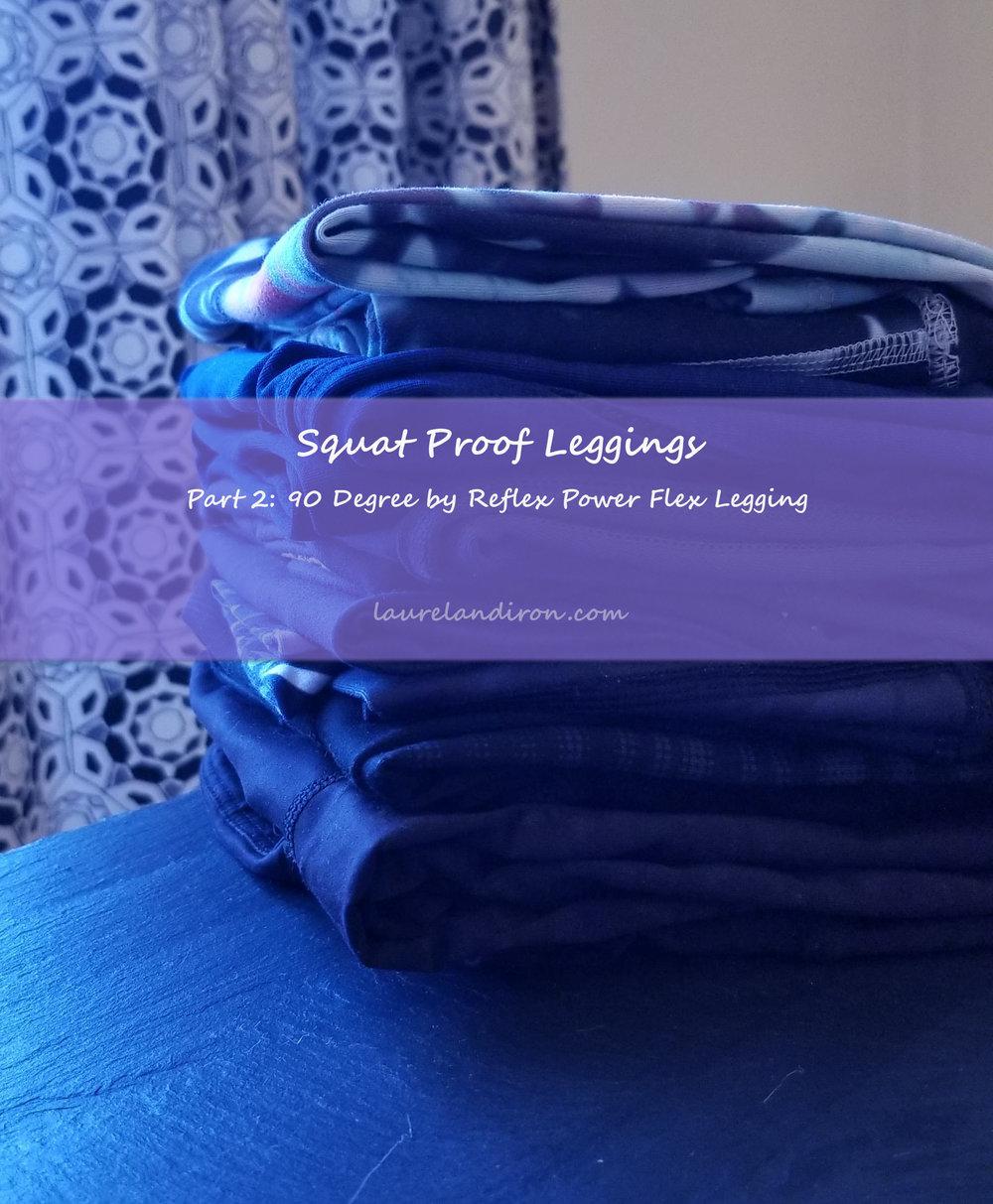 8a2707fc7f squat proof leggings part 2: 90 Degree by Reflex Power Flex Capri ...
