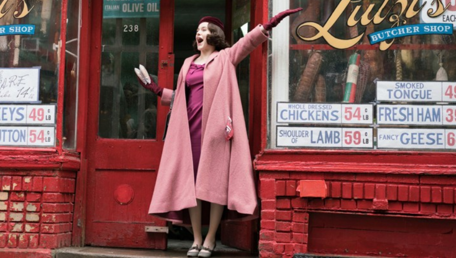 Image of Mrs. Maisel, who seems to own my dream closet, from  www.theatlantic.com