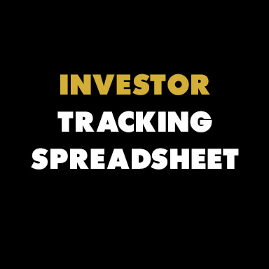 Check out the   badass   investor tracking spreadsheet that  Rachel Renock  of  Wethos  put together for y'all. Thanks, queen!