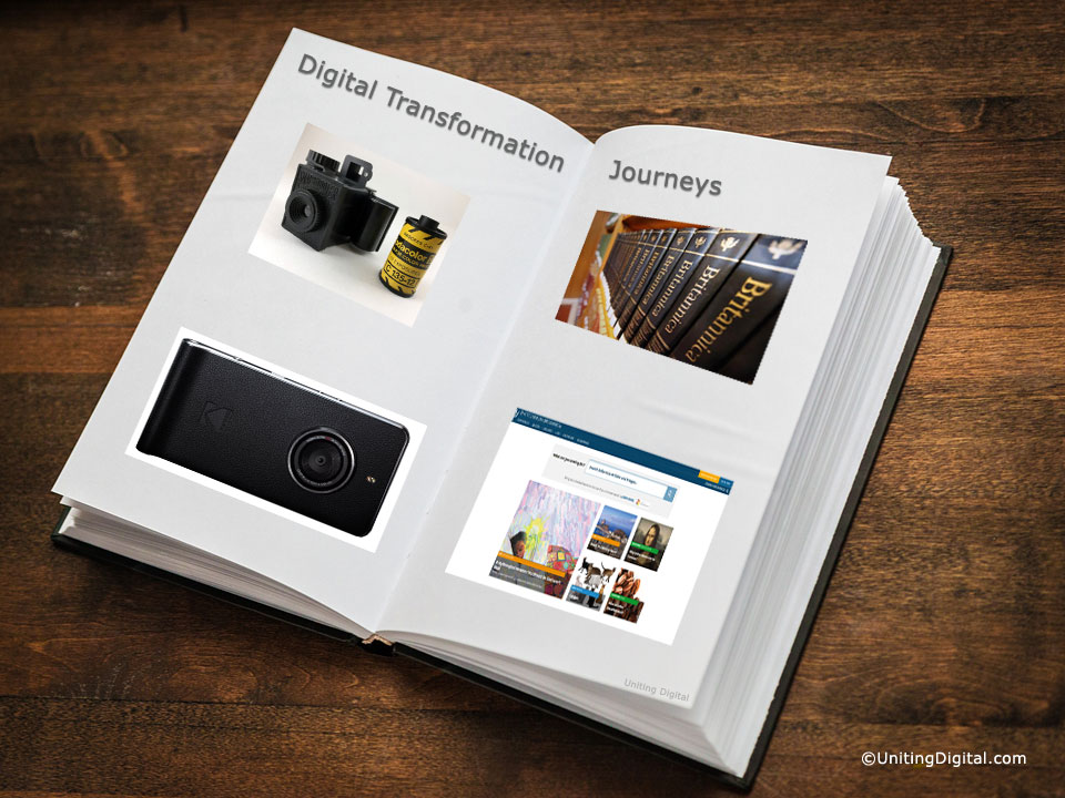 Digital Transformation Journeys for Kodak and Encyclopædia Britannica