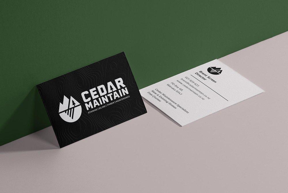 Cedar Maintain business cards