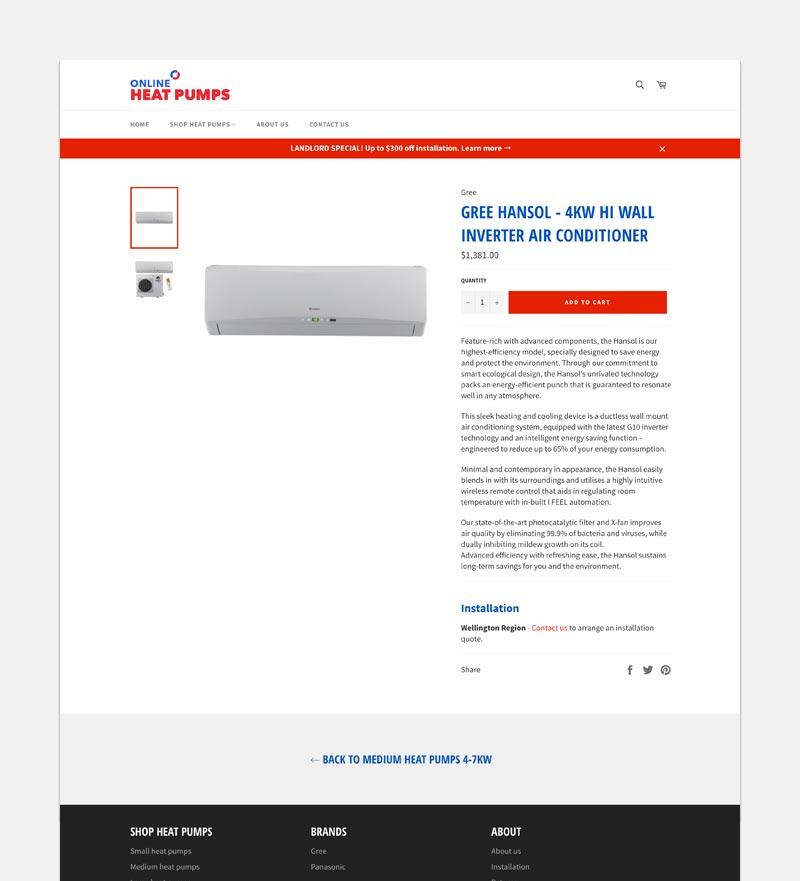 Online-Heat-pump