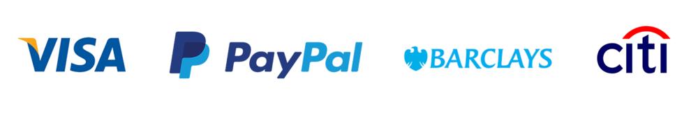Financial logos sharing a few key shades