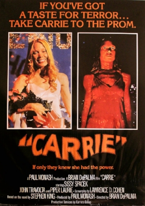 Carrie movie poster graphic design